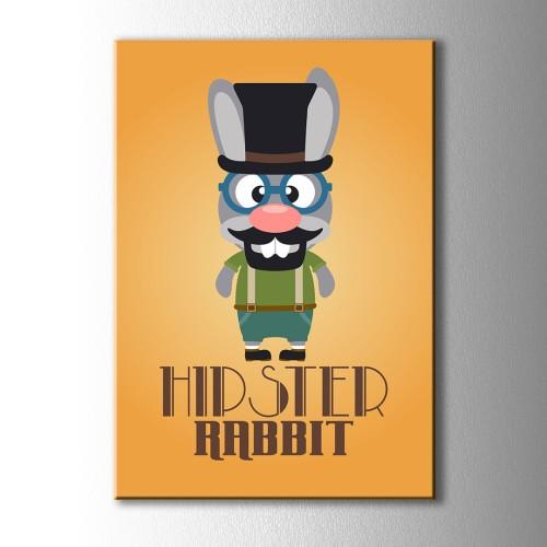 Hipster Rabbıt Kanvas Tablo