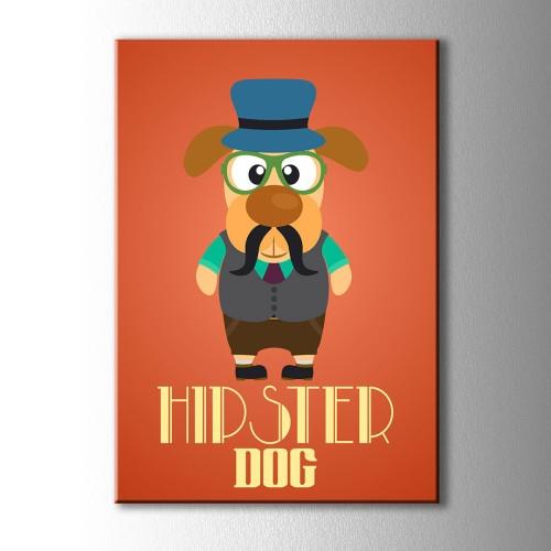 Hipster Dog Kanvas Tablo