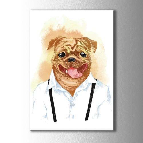 Özel Çizim Köpek Kanvas Tablo