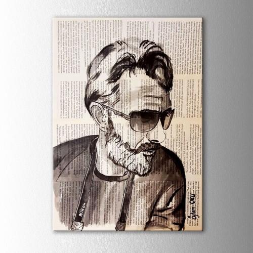Kişiye Özel Mürekkep Boya Kitap Sayfasına Dikey Portre