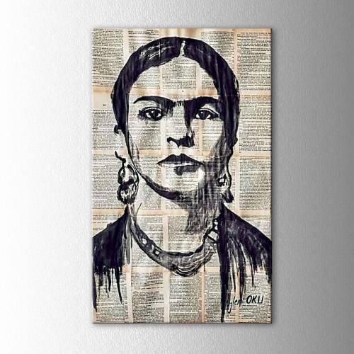 Kişiye Özel Mürekkep Boya Kitap Sayfasına Sevdiğiniz Ünlü Portre