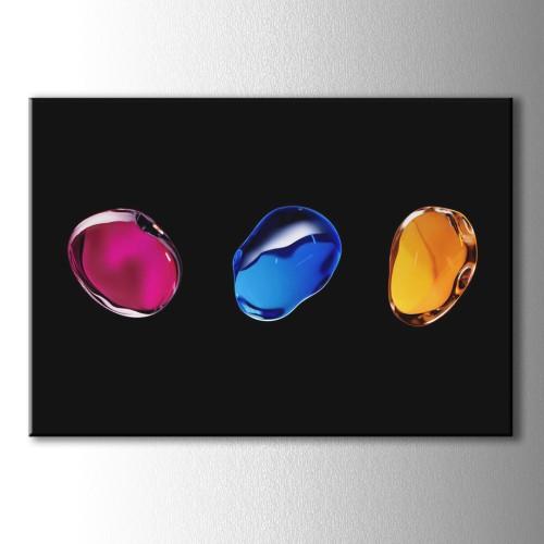 Renkli Taşlar Dekoratif Kanvas Tablo