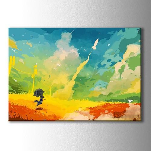 Güneş Yağmuru Kanvas Tablo