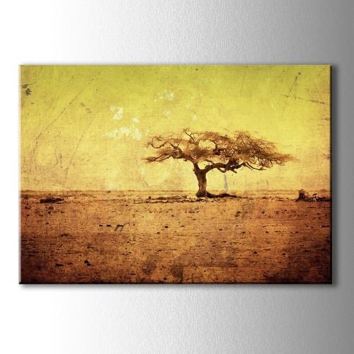 Yalnız Ağaç Kanvas Tablo