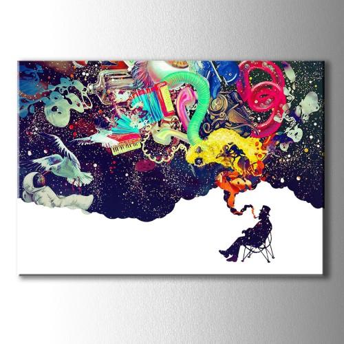Rengarenk Düşler Kanvas Tablo
