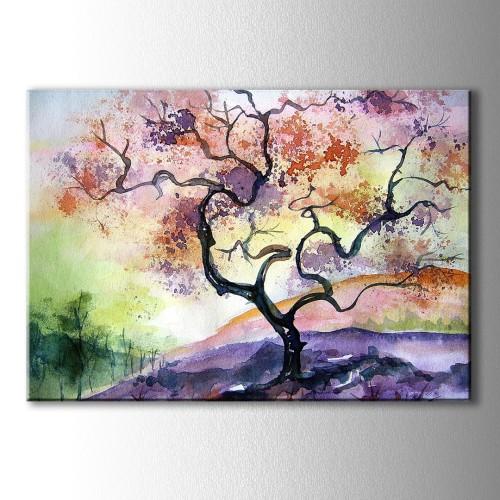 Yağlı Boya Görünümlü Ağaç Kanvas Tablo