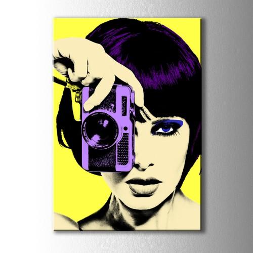 Pop Art Fotoğraf Sarı Kanvas Tablo