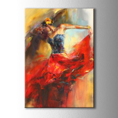 Dans Eden Kadın Kanvas Tablo