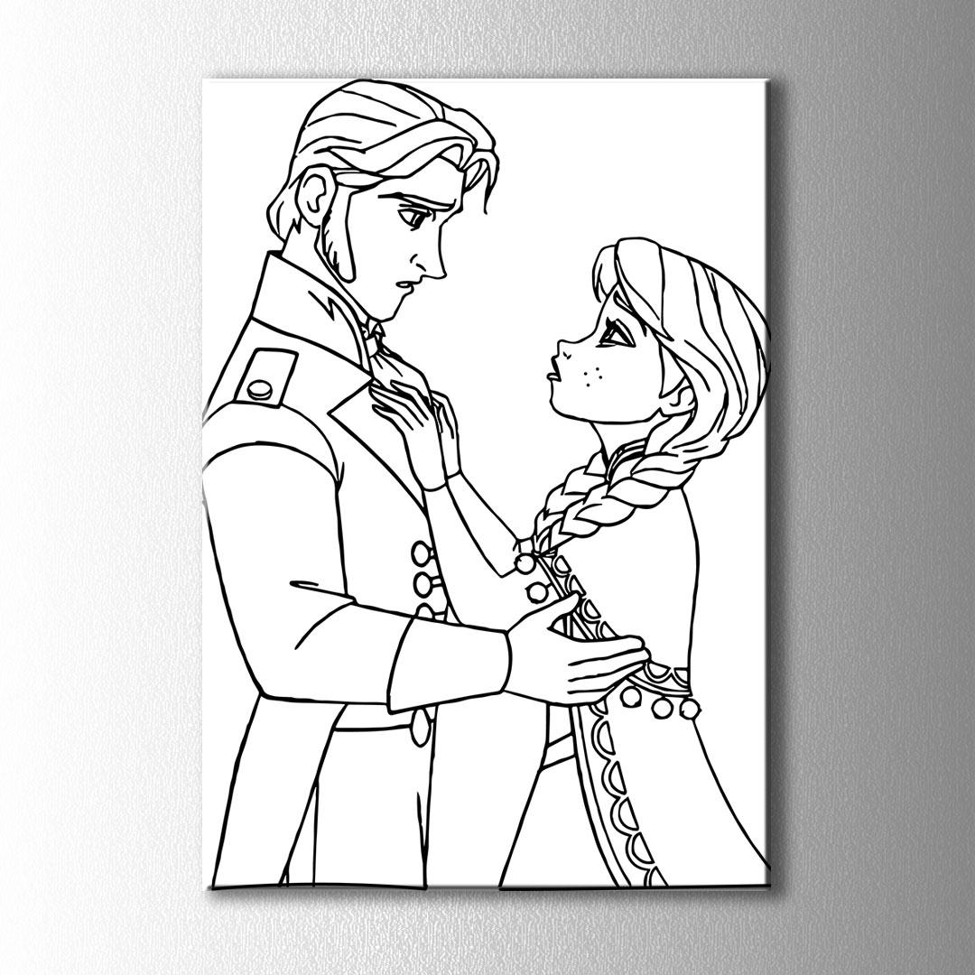 Prens Ve Prenses Boyama Kanvas Tablo